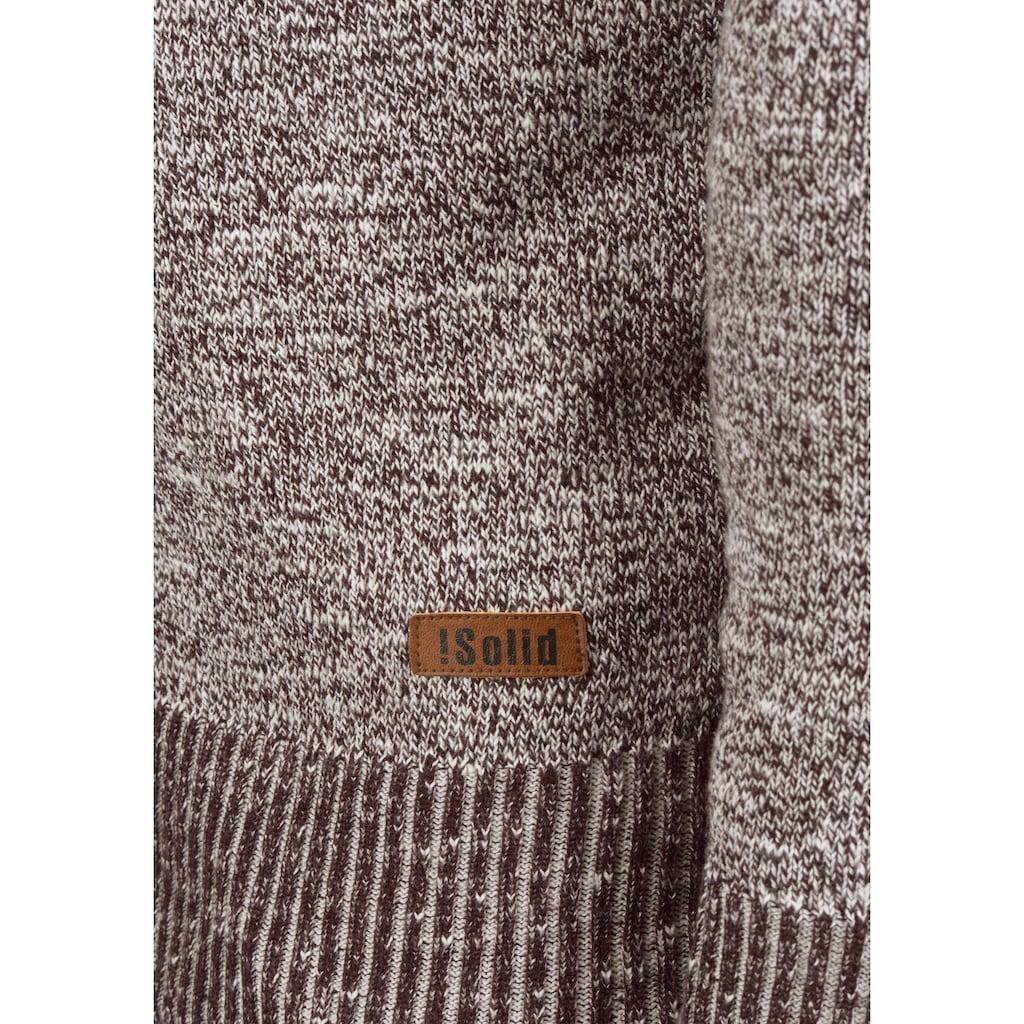 Solid Cardigan »Thiamin«, Strickjacke mit Holzknopf-Leiste
