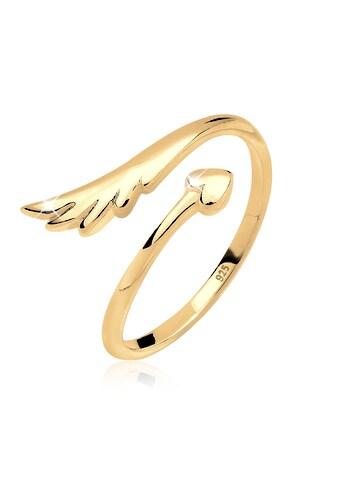 Elli Fingerring »Herz Flügel Feminin Offen 925 Silber« kaufen