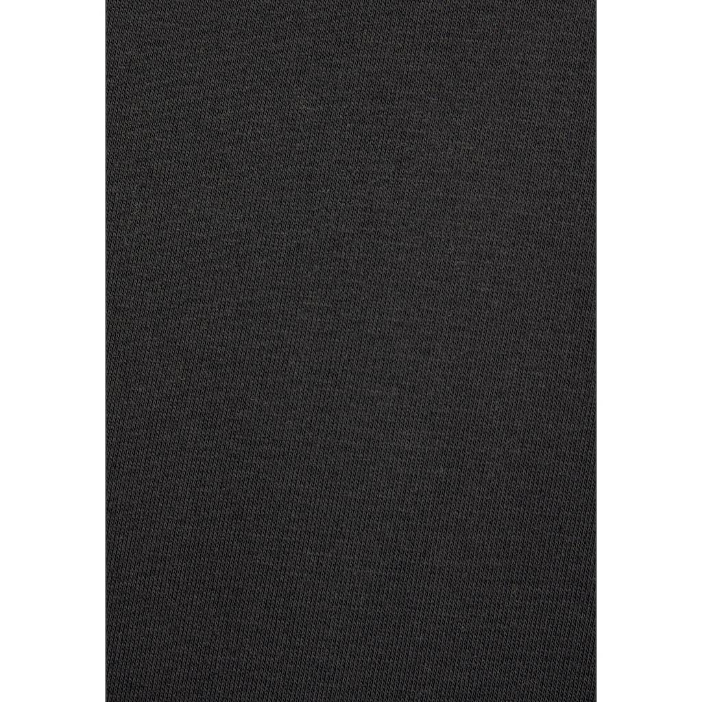Bench. Hoodie, mit bedrucktem Tape und Blumenprint