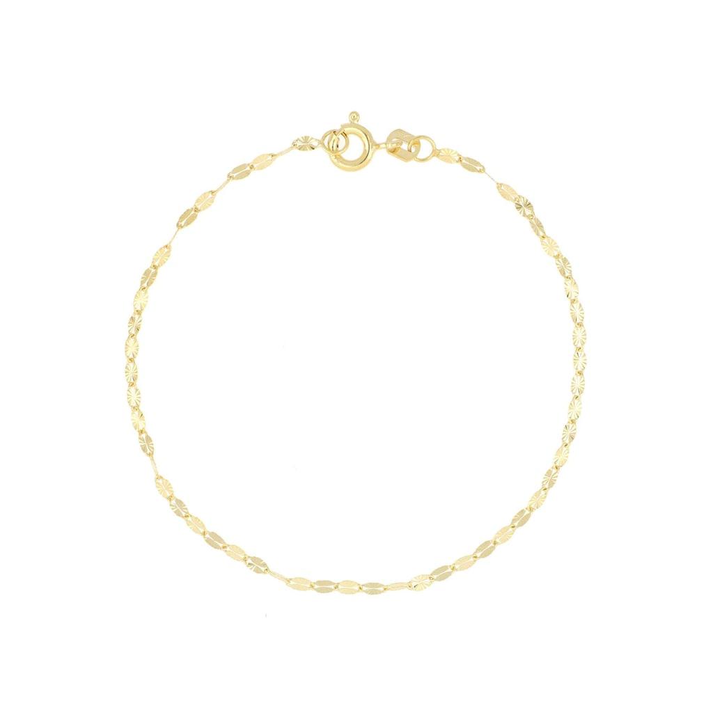 Firetti Goldarmband »in Plättchenkettengliederung, 2,0 mm breit, sterndiamantiert«