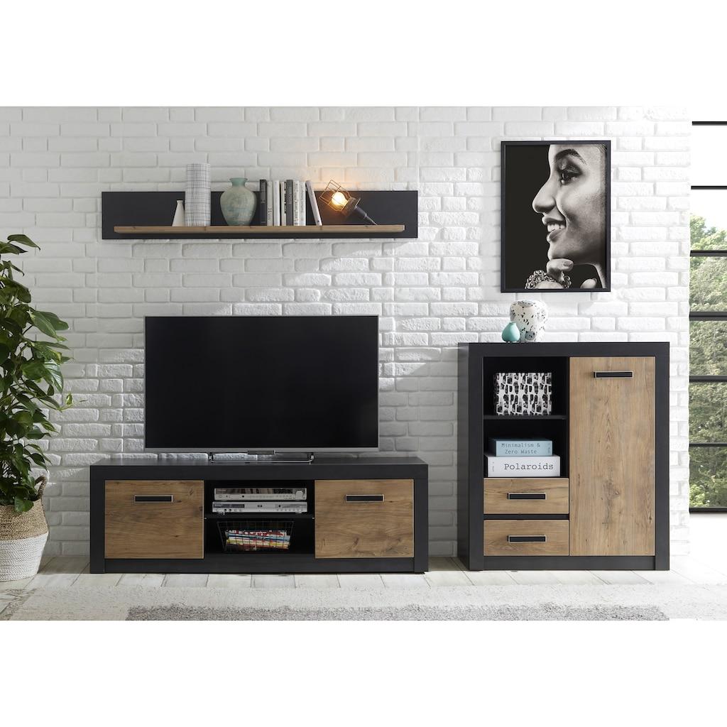 my home Wohnwand »Brügge«, (Set, 3 St.), Mit einer dekorativen Rahmenoptik