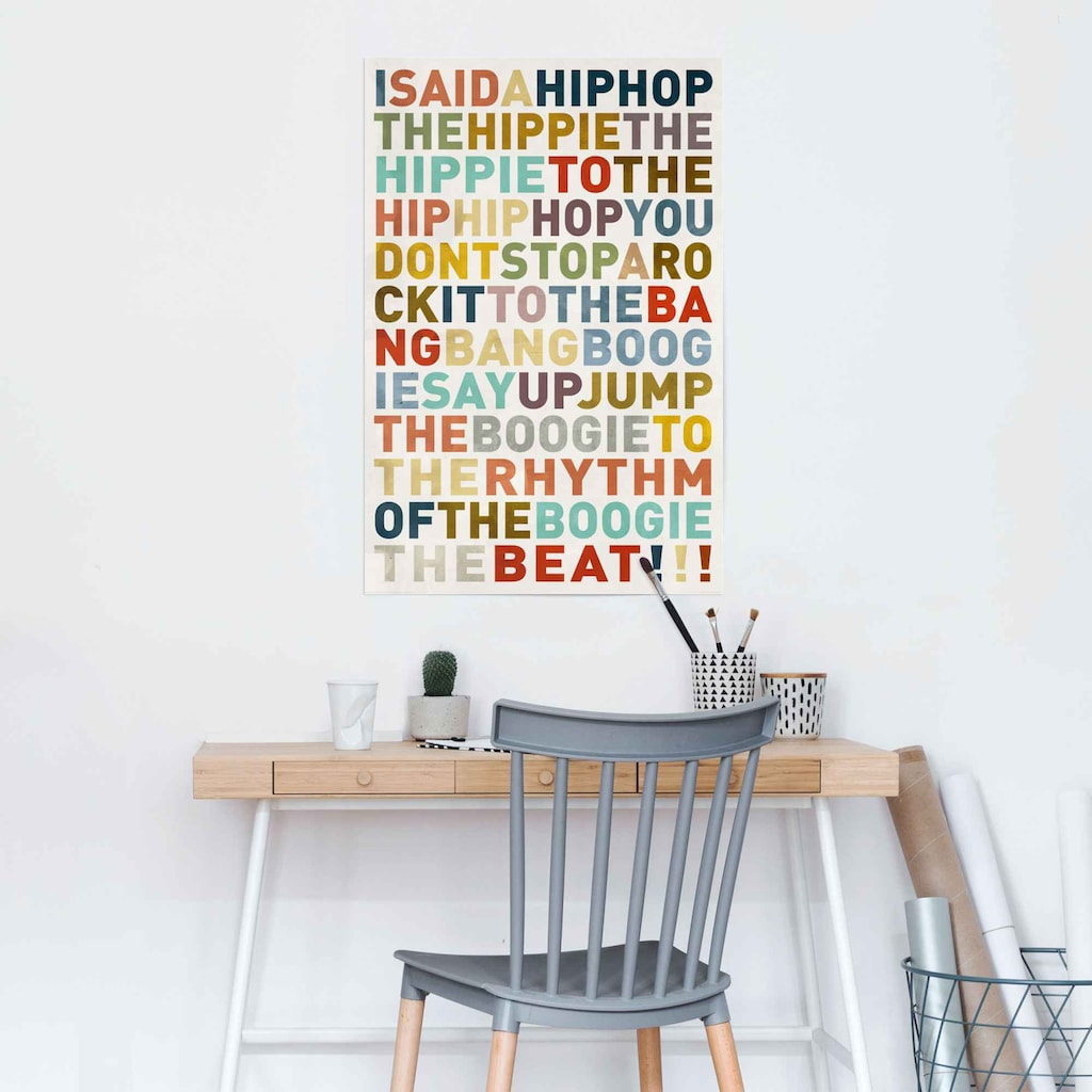 Reinders! Poster »Poster I said a HipHop Farbig - Hip-Hop - Songtext - Musik«, Musiker, (1 St.)