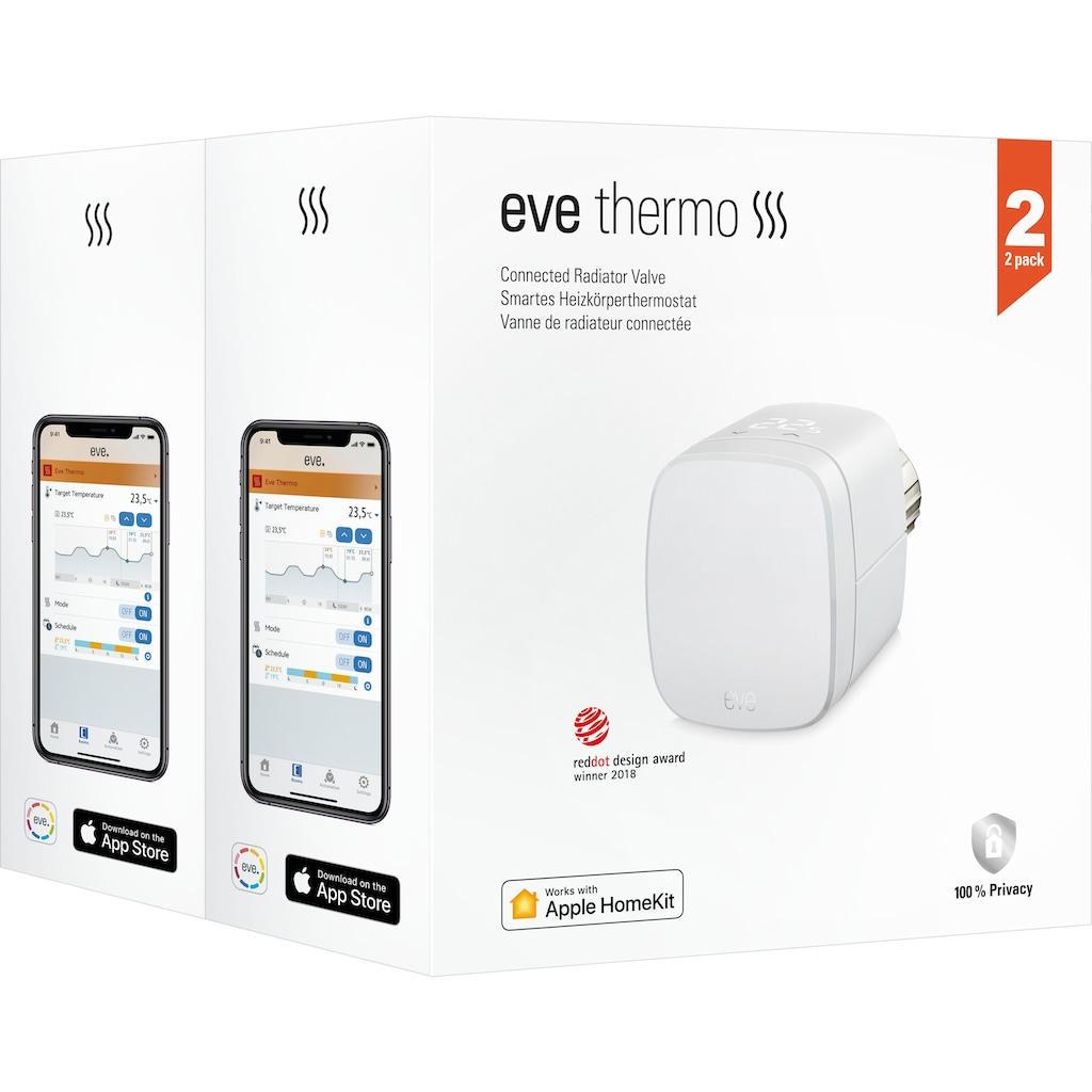 EVE Smartes Heizkörperthermostat »Thermo 2020 2-er Pack«