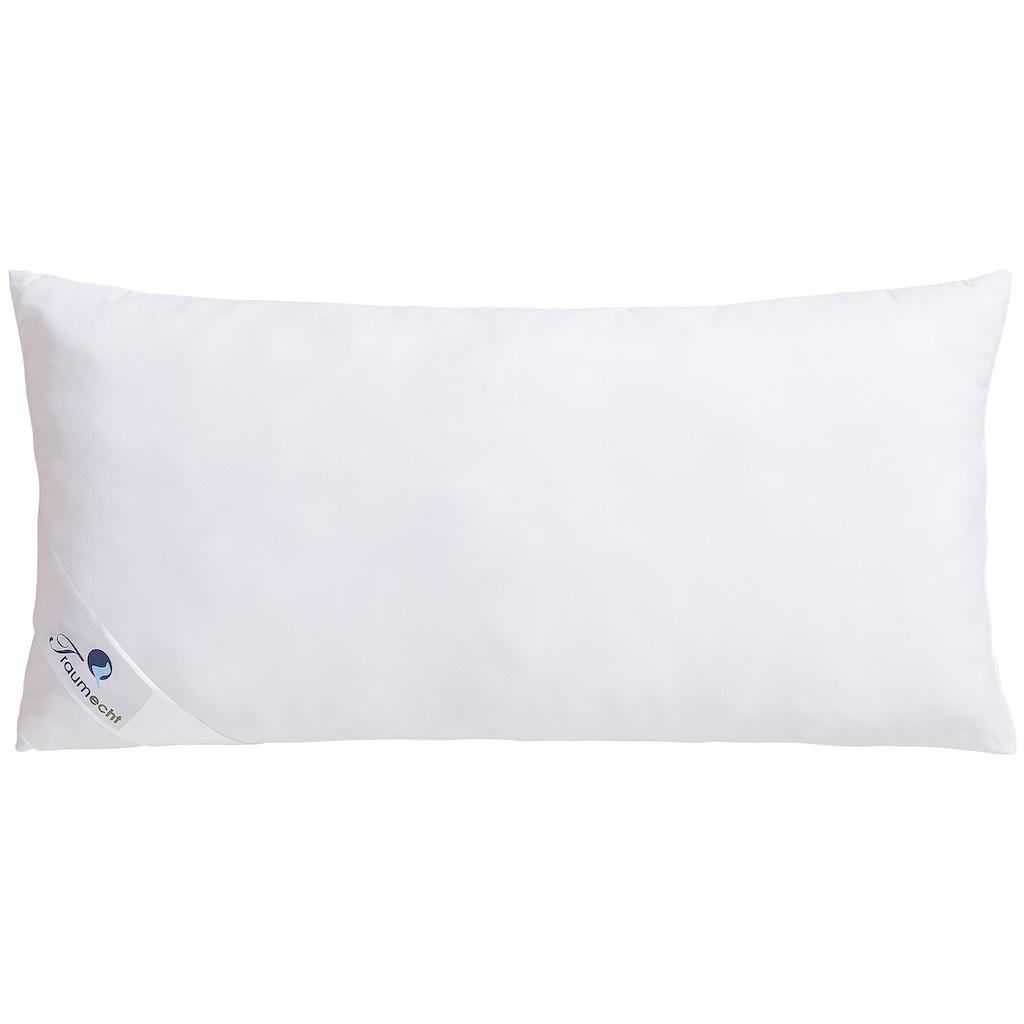 Traumecht Microfaserkissen »Melly«, Füllung: Polyesterfaser, Bezug: Polyester, (1 St.), gefüllt mit recycelter Fasern