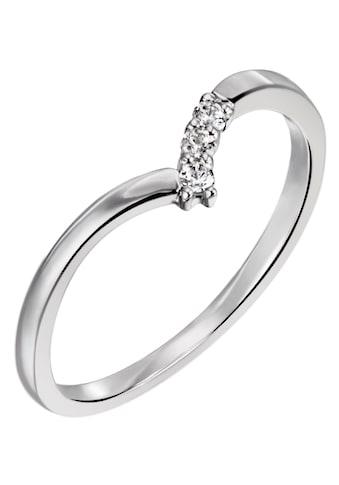 Firetti Diamantring »ca. 1,5 mm breit, glänzend und teilw. rhodiniert«, mit Brillanten kaufen