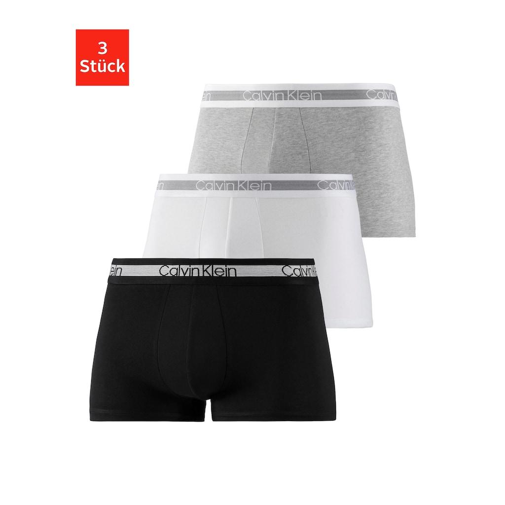 Calvin Klein Boxer »Cooling«, (3 St.), fein gestreifter Taillenbund