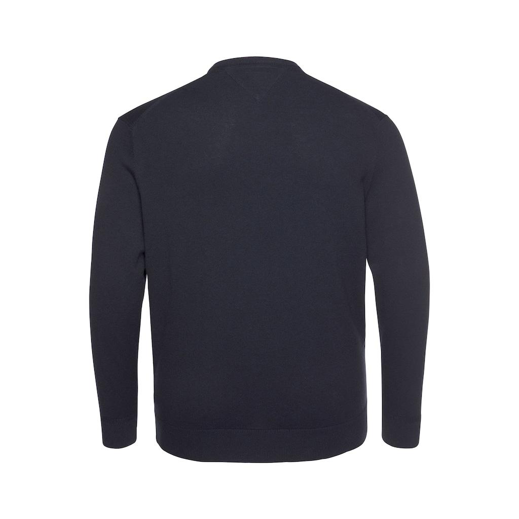 Tommy Hilfiger Big & Tall V-Ausschnitt-Pullover »BT-PIMA COTTON CASHMERE V NECK-B«