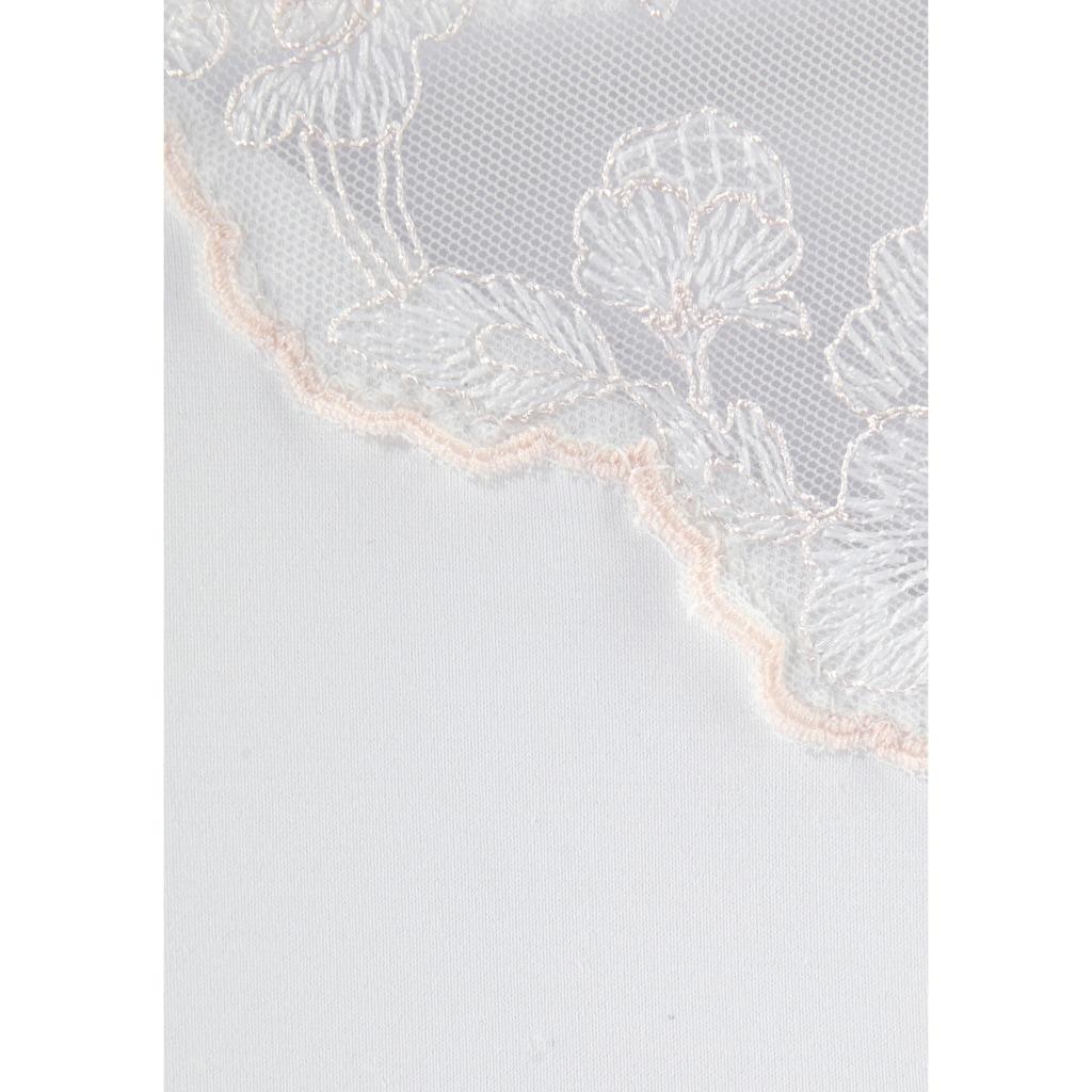 LASCANA Slip »Mia«, mit transparenten Spitzeneinsätzen