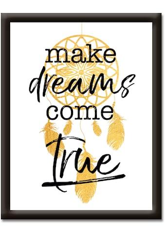 Artland Wandbild »Träume wahr werden lassen«, Sprüche & Texte, (1 St.) kaufen