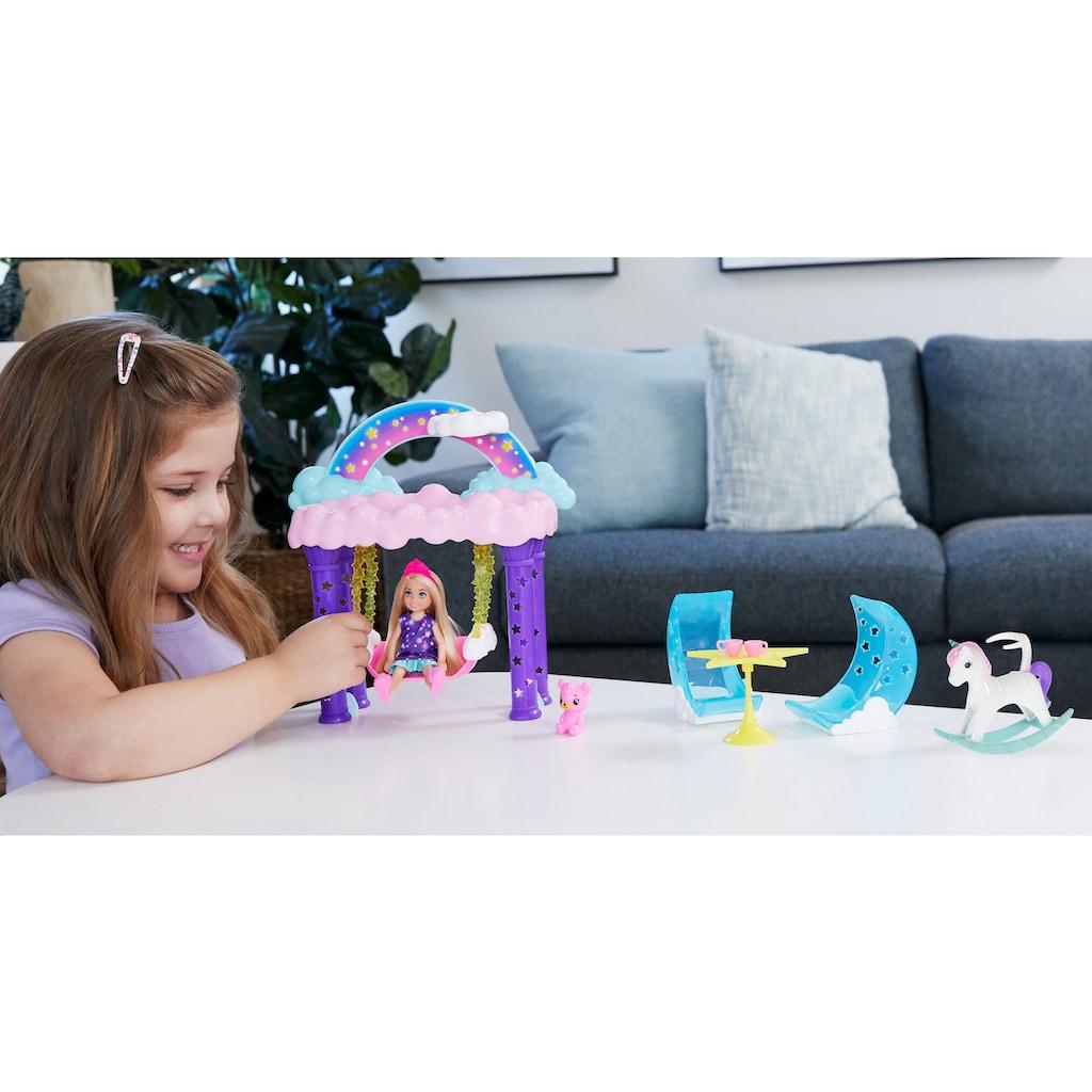 Barbie Puppenhaus »Dreamtopia, Chelsea Regenbogen-Schaukel-Spielset«, inkl. Chelsea-Puppe und Teddybär