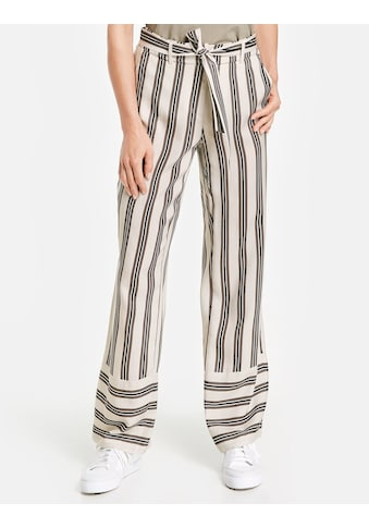 GERRY WEBER Hose Freizeit lang »Hose mit Streifen Dessin« kaufen