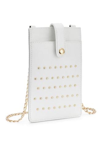 LASCANA Umhängetasche, modische Minibag 'Handytasche' mit Nieten und Sichtfenster kaufen