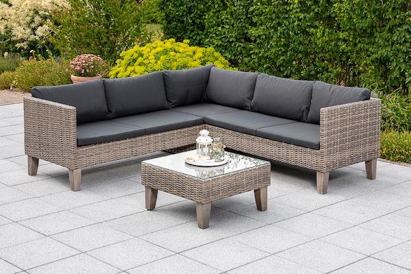 Garten-Loungemöbel aus Polyrattan