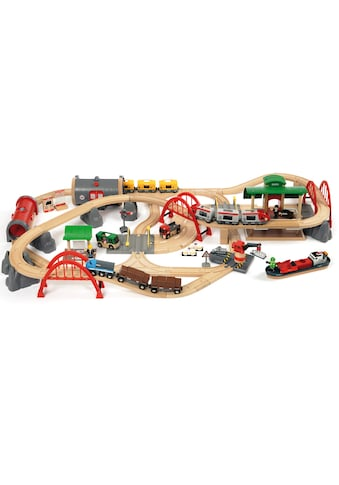 BRIO® Spielzeug-Eisenbahn »BRIO® WORLD Straßen & Schienen Bahn Set Deluxe«, FSC®-Holz... kaufen