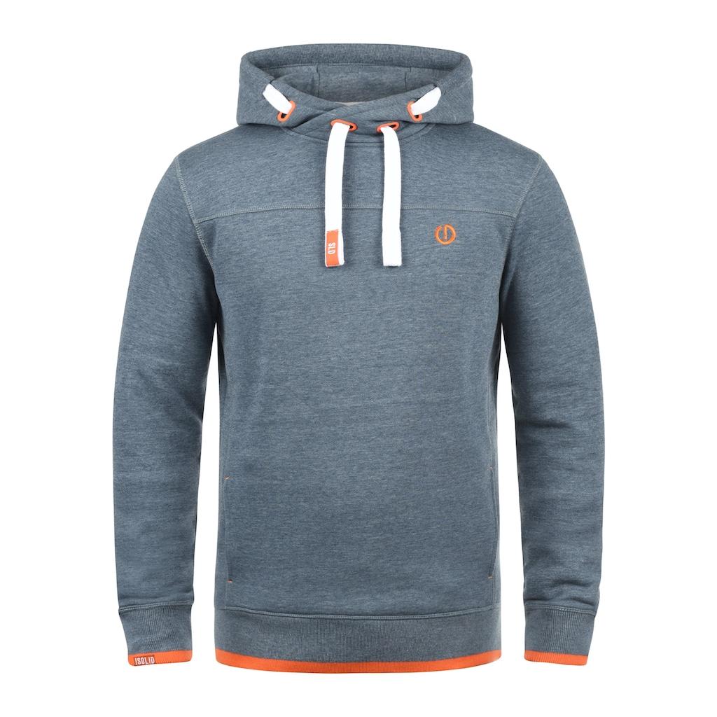 Solid Hoodie »Benjamin Hood«, Kapuzensweatshirt mit Cross-Over Kragen