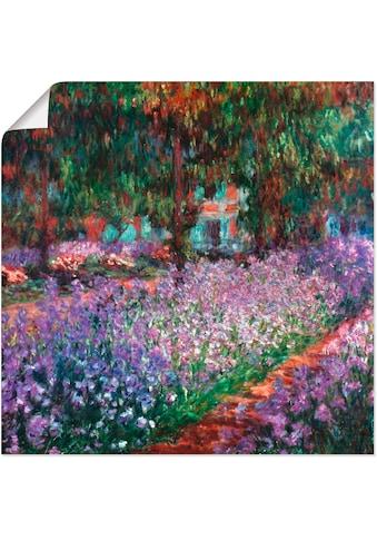 Artland Wandbild »Der Garten des Künstlers bei Giverny«, Garten, (1 St.), in vielen... kaufen
