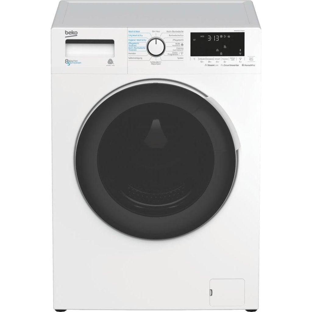 BEKO Waschtrockner »WDW 85141 Steam«, Dampffunktion