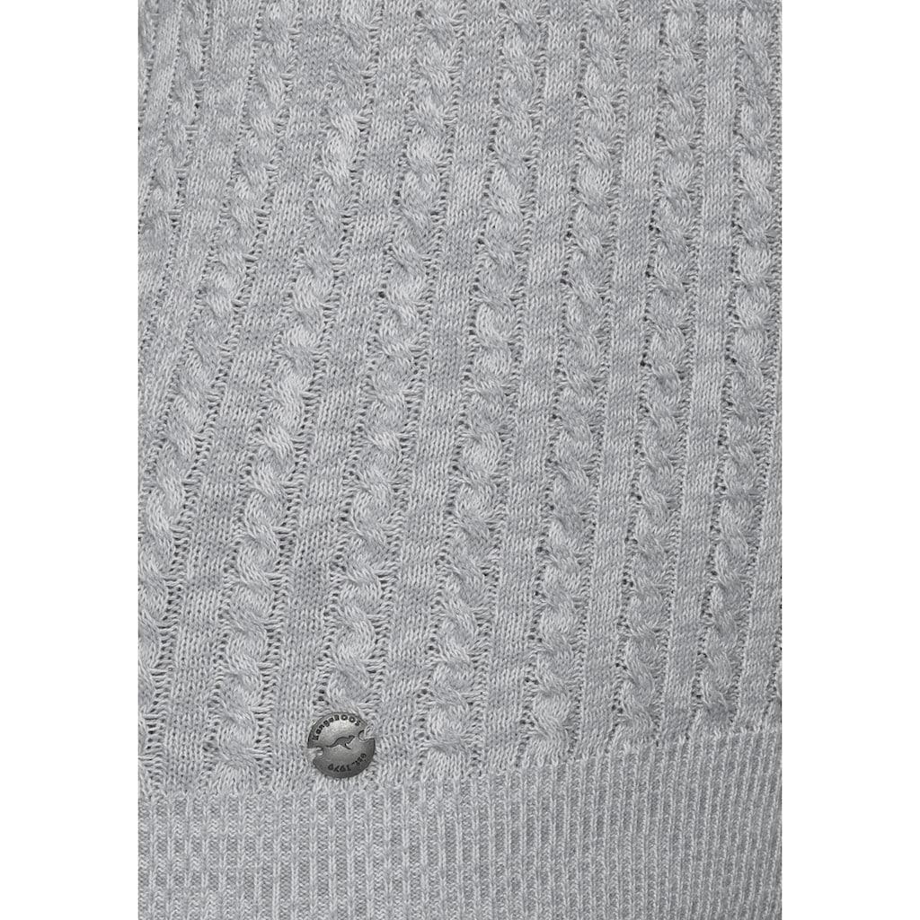 KangaROOS Kapuzenpullover, im feinen Zopf-Strick-Design