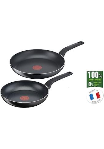 Tefal Pfannen-Set »B55590 Easy Cook & Clean«, Aluminium, (Set, 2 tlg.), Titanium... kaufen
