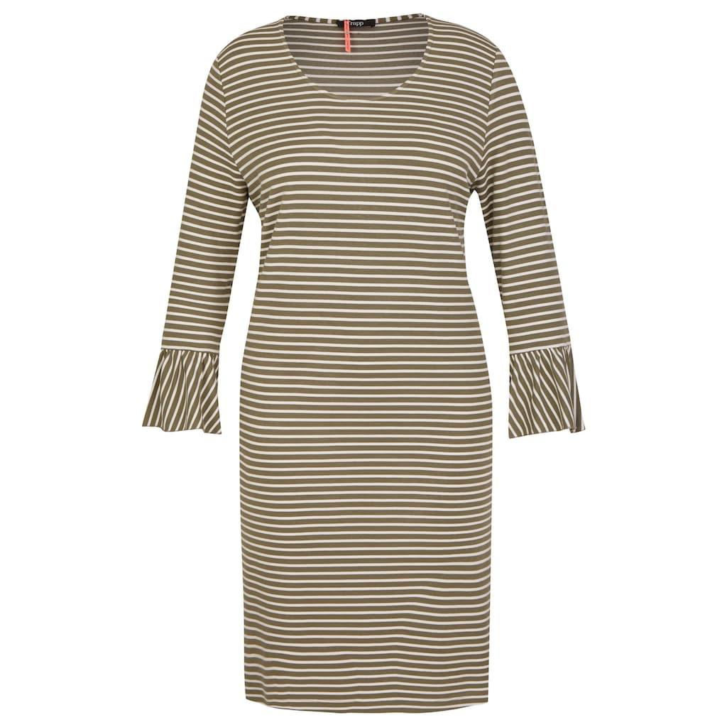 FRAPP Charmantes Ringel-Kleid mit Volants