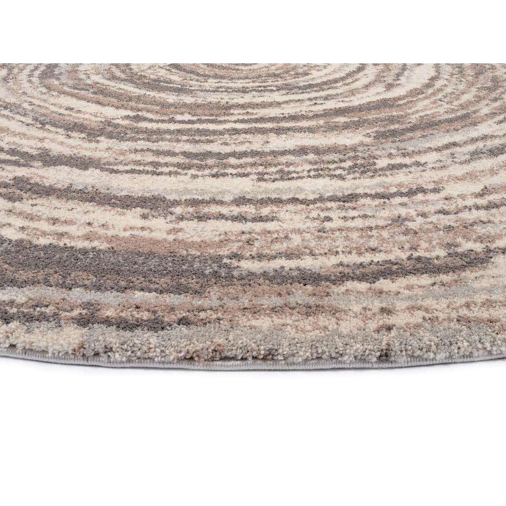 OCI DIE TEPPICHMARKE Teppich »Lexa Round«, rund, 20 mm Höhe, besonders weich durch Mircofaser, Wohnzimmer