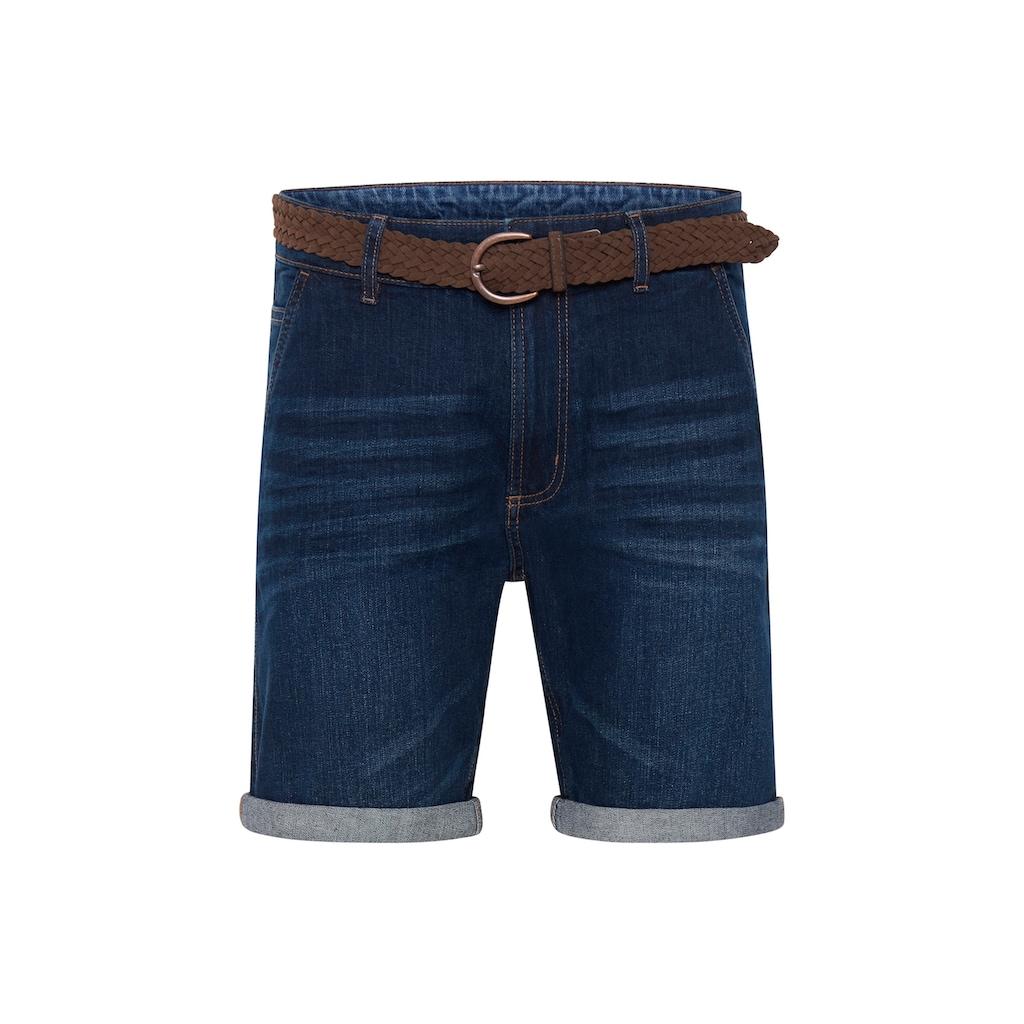 Indicode Jeansshorts »Quincy«, kurze Hose mit Gürtel