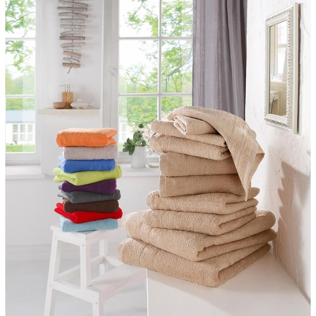 my home Handtuch Set »Inga«, mit feiner Bordüre