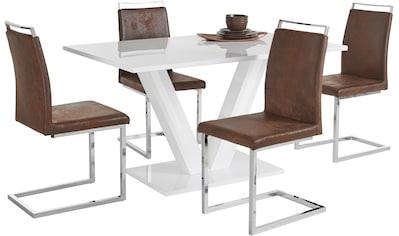Essgruppe »Andy/Jella«, (Set, 5 tlg.), mit Tisch und 4 Stühlen kaufen