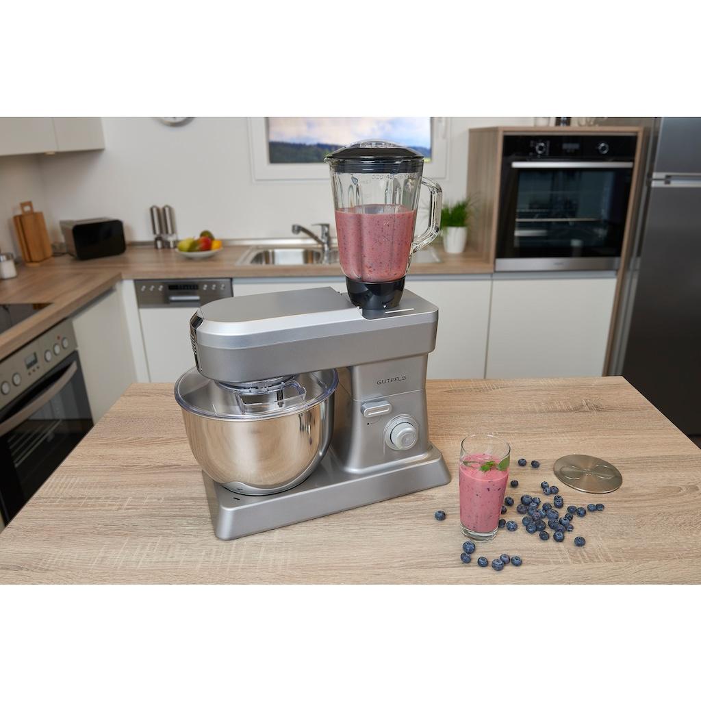 Gutfels Küchenmaschine »KM 8101 si«, 1200 W, 6,2 l Schüssel