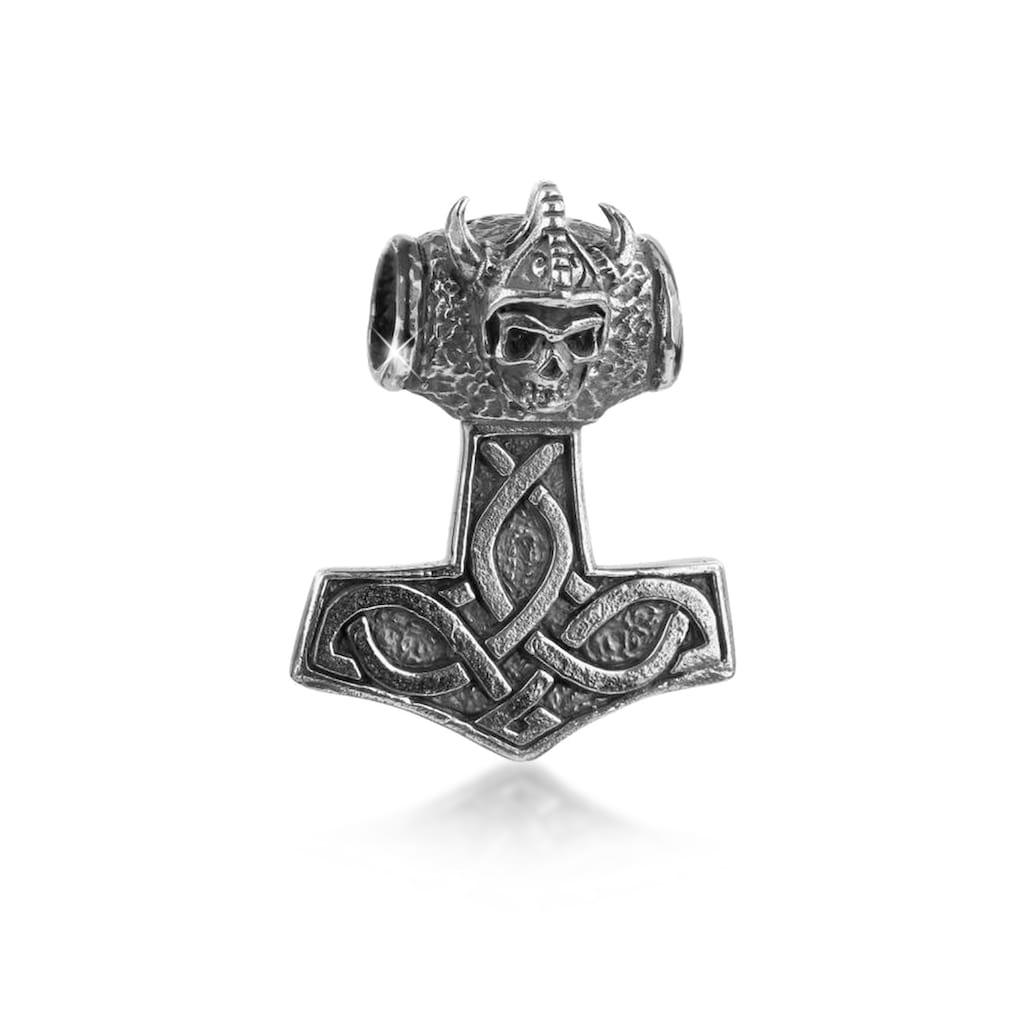 Kuzzoi Kettenanhänger »Herren Thors Hammer Keltischer Knoten 925 Silber«