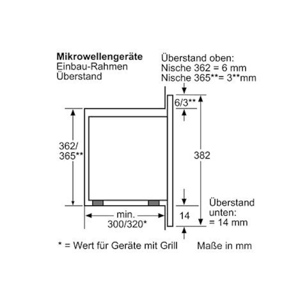 SIEMENS Einbau-Mikrowelle »HF15M552«, Mikrowelle, 800 W