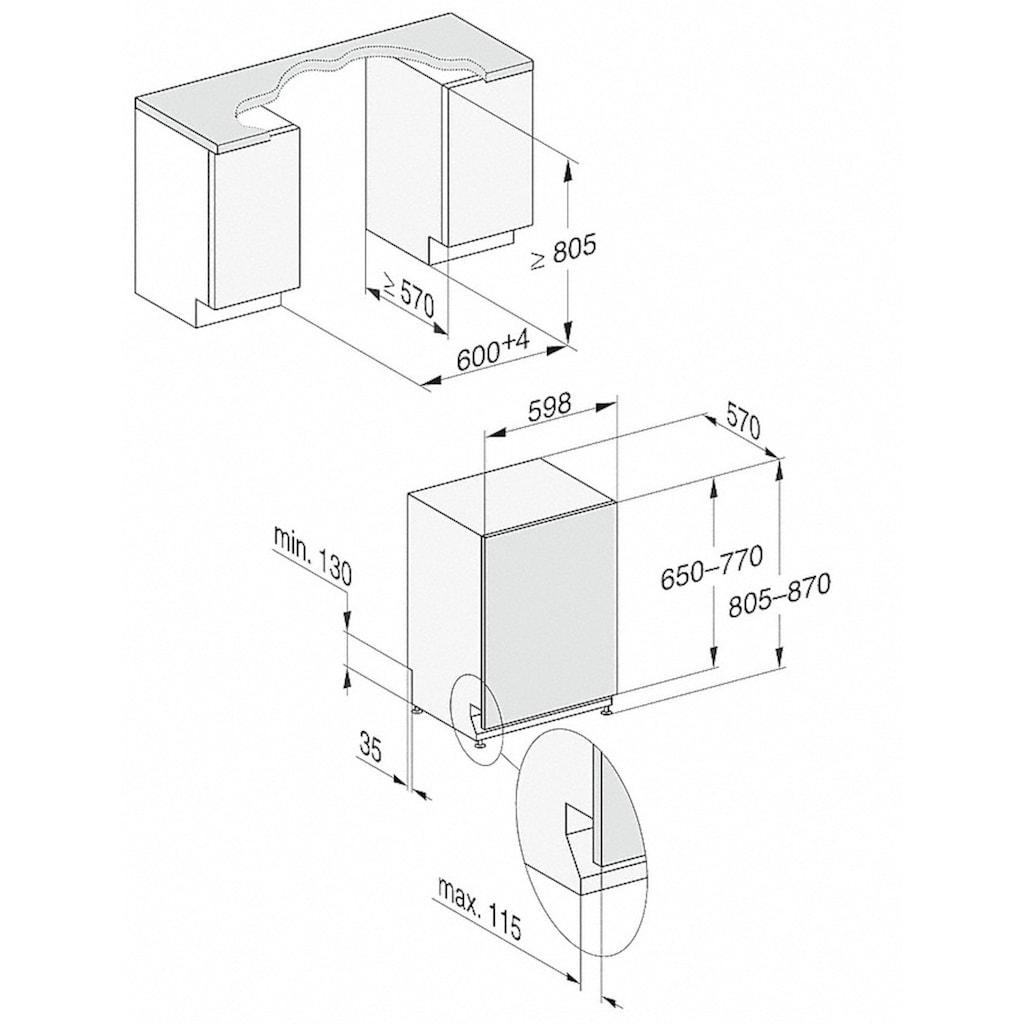 Miele vollintegrierbarer Geschirrspüler, G 7050 SCVi, 8,9 l, 14 Maßgedecke