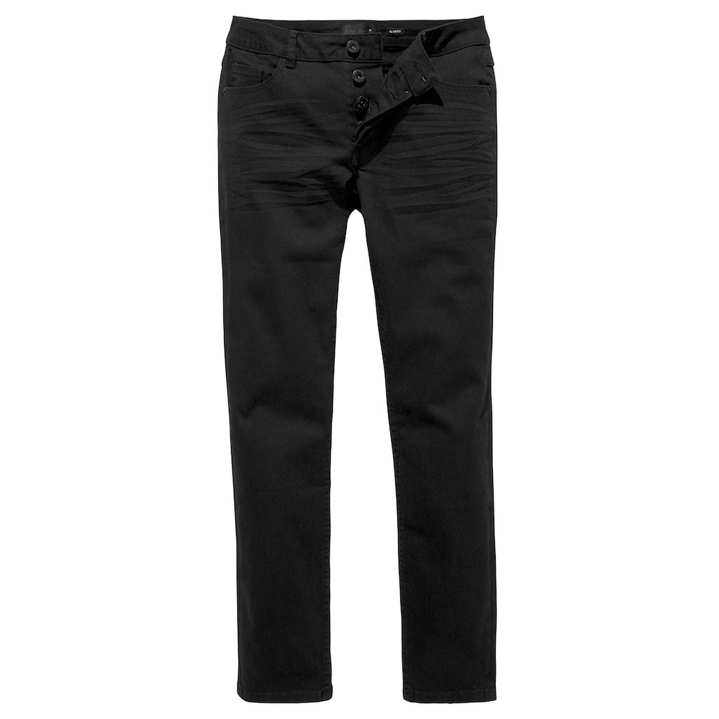 John Devin Slim-fit-Jeans, mit Knopfleiste