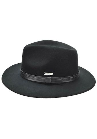 Seeberger Filzhut »Filzfedora mit schwarzer Kunstlederumlage 70425-1« kaufen