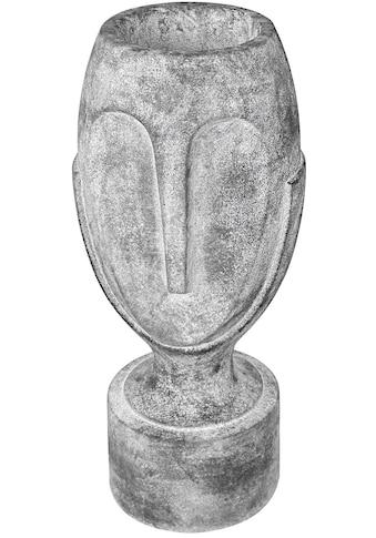 GILDE Pflanzkübel »Pflanzkübel Face, grau«, (1 St.), Blumenkübel, Pflanzübertopf,... kaufen
