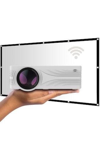 LA VAGUE LED-Beamer »LV-HD240 Wi-Fi inkl. LV-STA100FP«, ( 1000:1 ), weiß, unterstützt 720p/1080p kaufen