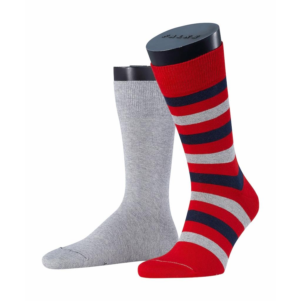 Esprit Socken »Regular Stripe 2-Pack«, (2 Paar), mit hochwertiger Baumwolle