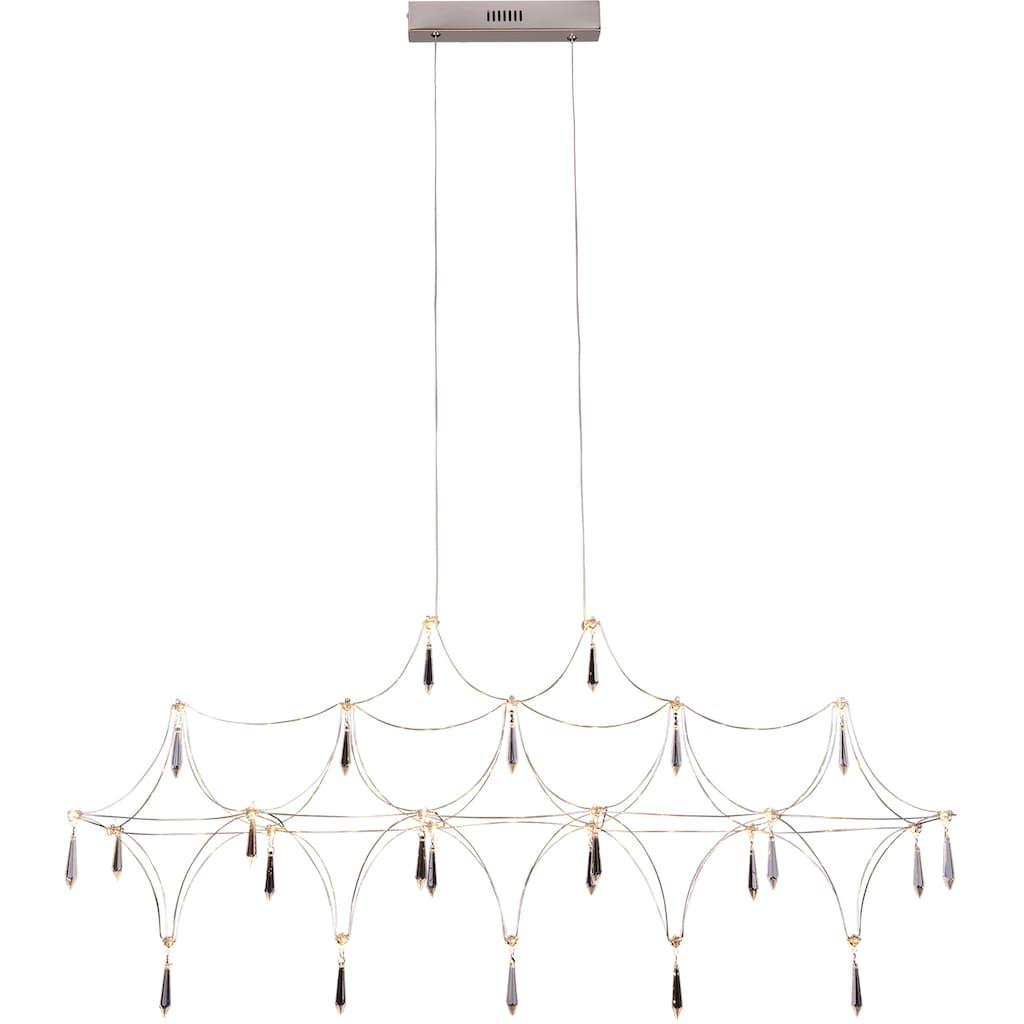 näve LED Pendelleuchte »Araneus«, LED-Board, 1 St., Warmweiß, LED Hängelampe, LED Hängeleuchte