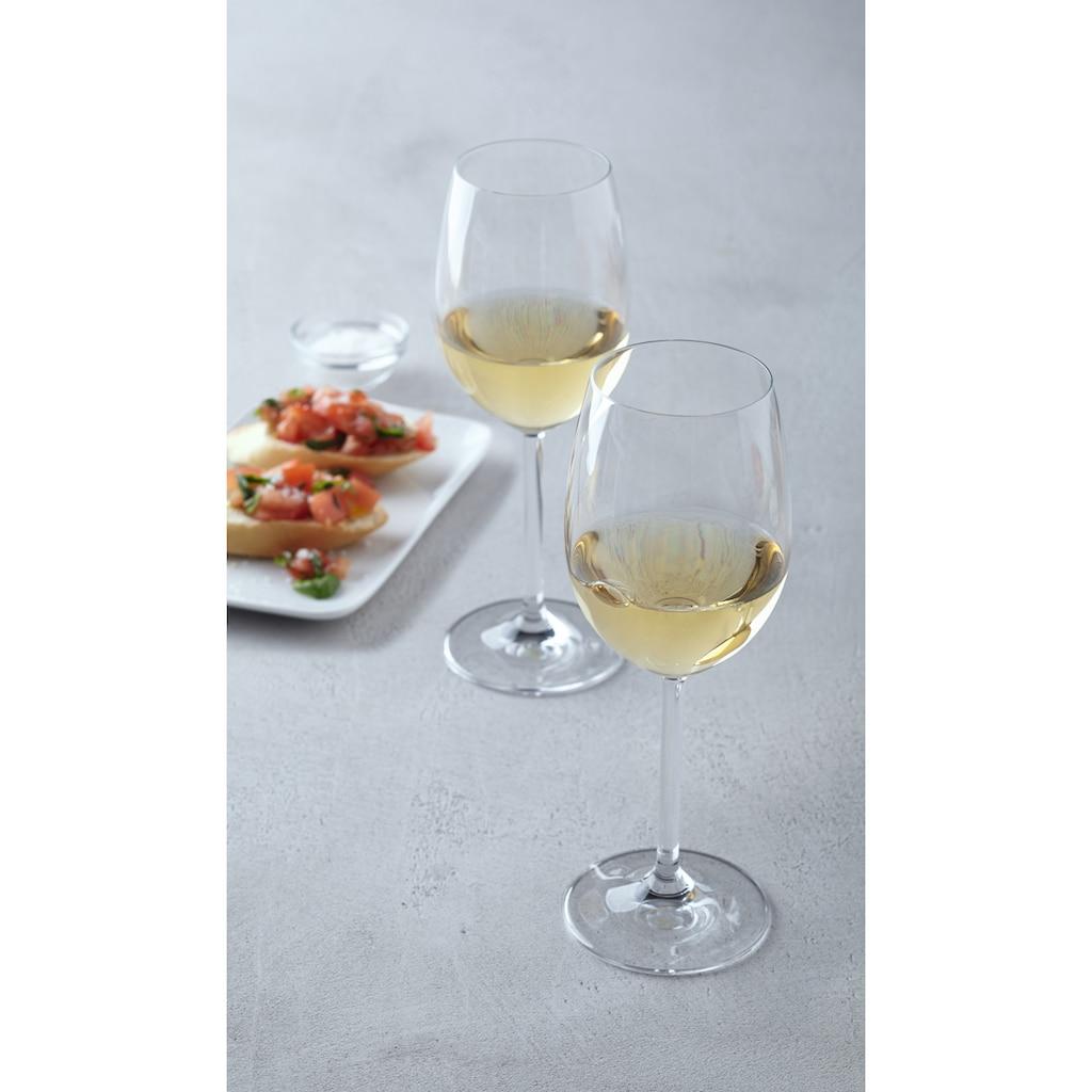LEONARDO Weißweinglas »Daily«, (Set, 6 tlg.), 370 ml, 6-teilig