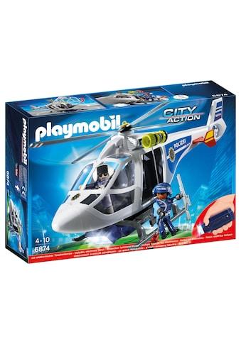 "Playmobil® Konstruktions - Spielset ""Polizei - Heli LED Suchscheinwerfer (6874), City Action"", Kunststoff kaufen"