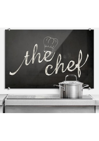 Wall-Art Herd-Abdeckplatte »Spritzschutz Küchen Chef Koch«, (1 tlg.) kaufen