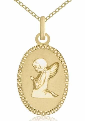 Firetti Goldkette »Schutzengel, oval, diamantiert, matt« kaufen