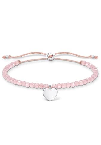THOMAS SABO Armband »Herz, A1985-813-9-L20v«, mit Rosenquarz kaufen