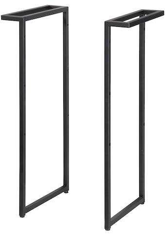 WELLTIME Set: Möbelfuß Trento Metall, Höhe 82 cm, schwarz für Waschtisch kaufen