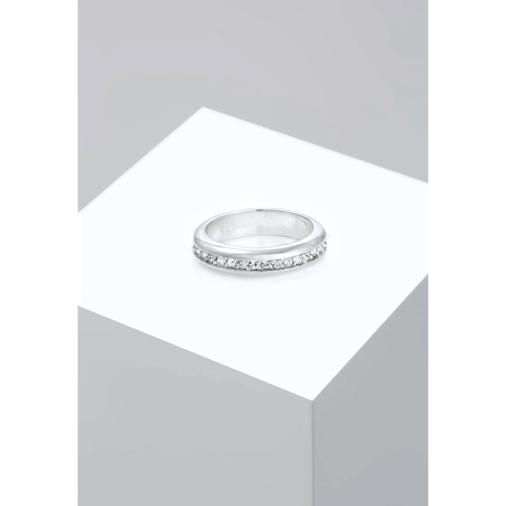 Elli Fingerring »Cocktail Bandring Kristalle 925 Silber«