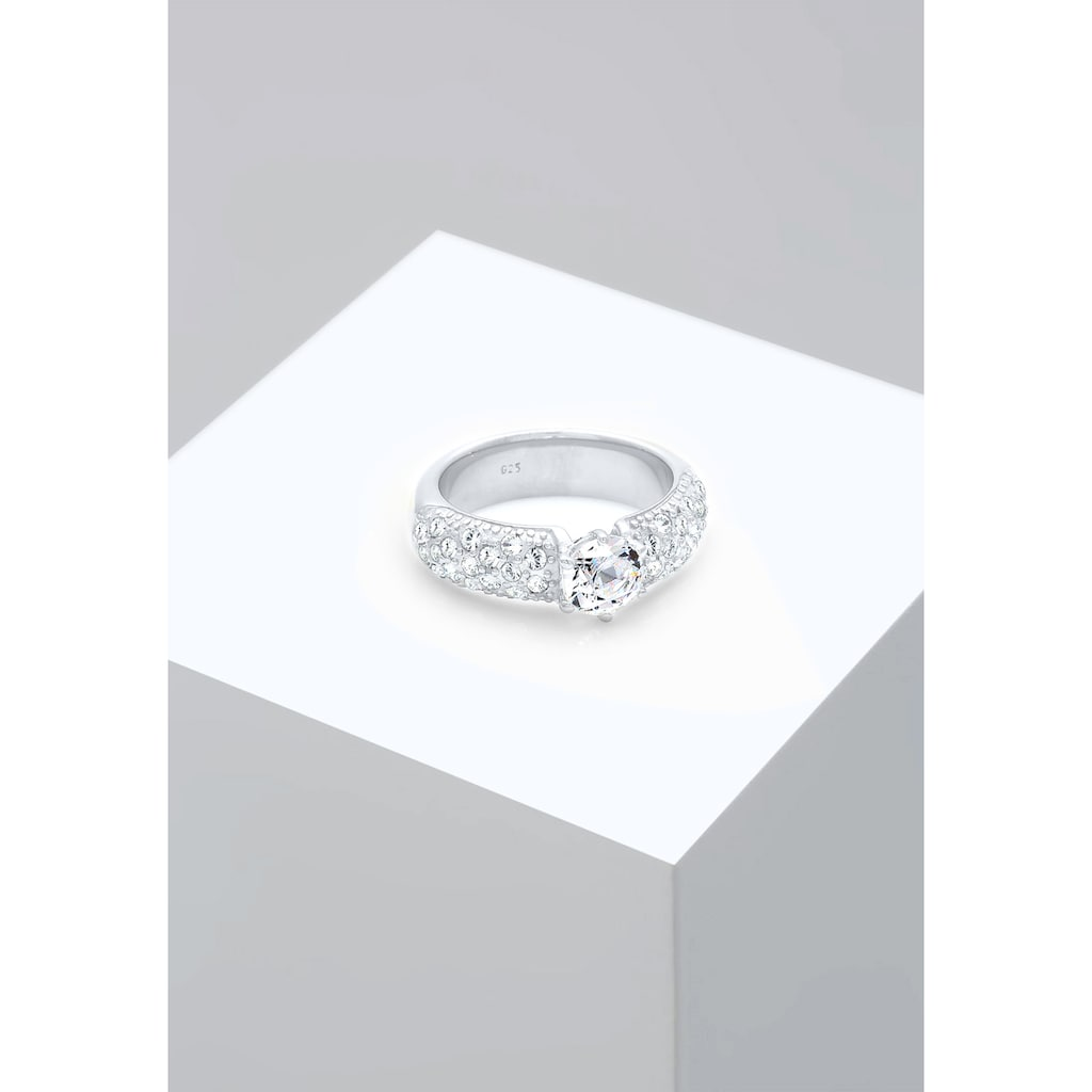 Elli Verlobungsring »Verlobungsring Kristalle 925 Silber«