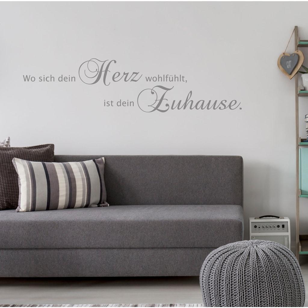 my home Wandspruch »Wo sich dein Herz wohlfühlt, ist dein Zuhause«