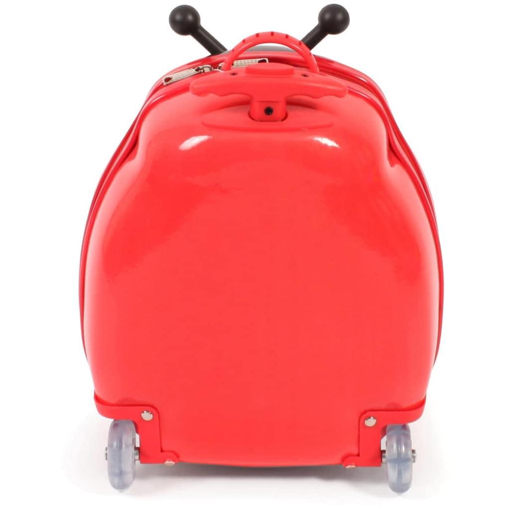 CHIC2000 Kinderkoffer »Bouncie, Marienkäfer«, 2 Rollen, Hartschalen-Trolley