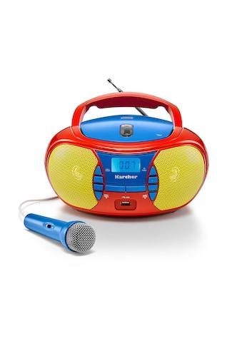 Karcher CD-Radiorecorder »RR 5026«, (CD 2.4 W), für Kinder mit Mikrofon kaufen