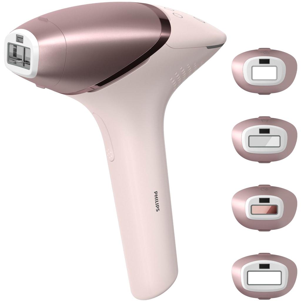 Philips IPL-Haarentferner »BRI958/00 Lumea IPL 9000 Series«, 450.000 Lichtimpulse, 4 Aufsätze (Achseln, Bikinizone, Körper, Gesicht), mit SmartSkin Sensor, mit SenseIQ Technologie